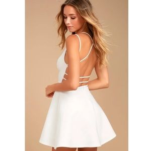 Lulus Backless Skater Dress Believe in Love